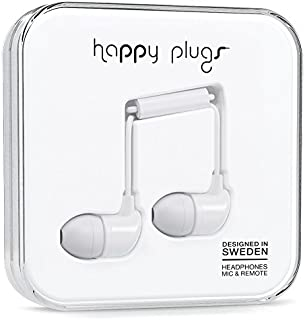 happy plugs In-Ear カナル型イヤホン リモコン・マイク付 iOS Android対応 ホワイト 7726 IN-EAR WHITE 7726 【国内正規品】