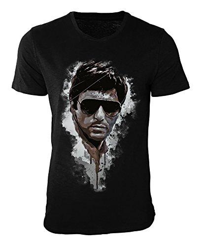 Al Pacino Scarface T-Shirt stilvolles Designershirt von Paul Sinus