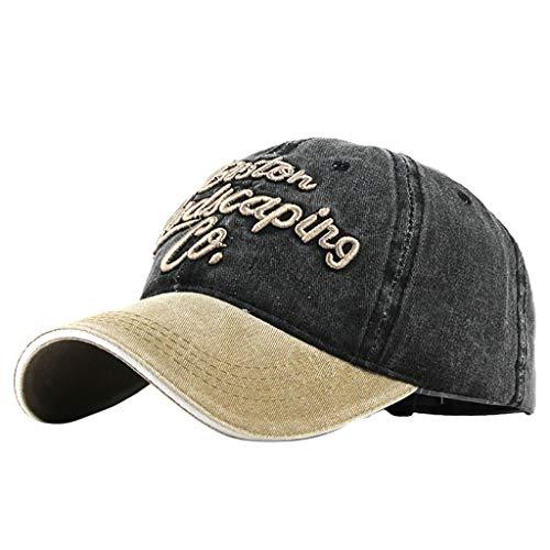 QHJ Unisex Kappe Classic Snapback Cap, Zweifarbige Blanko Cap für Männer Und Frauen Unisex Outdoor Cotton Hochwertige Bestickte Unisex Baseball Caps Einstellbar
