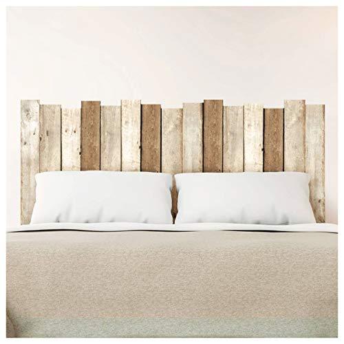Les Trésors De Lily [P5378 - Sticker Tête de lit Planches de Bois - 155x68 cm