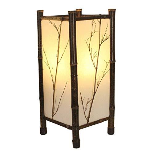 XUANLAN Minimalista de bambú lámparas de pie, Hecha a Mano de bambú Rama Vertical lámpara de pie, Estilo japonés Salón Dormitorio Inicio Permanente Luz (tamaño : 22cm)