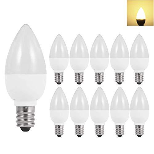 10er Pack LED E14 1W Lampen,Warmweiß 3000K,5W Entspricht,Nicht dimmbar,Matt,für Home Dekoration Beleuchtung