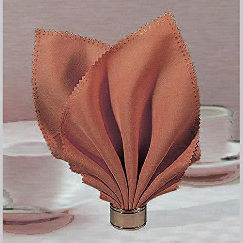 Fijnere 12 stks 40 * 40 cm polyester champagne salontafel servet voor restaurant bruiloft evenement tafeldecoratie, koffie
