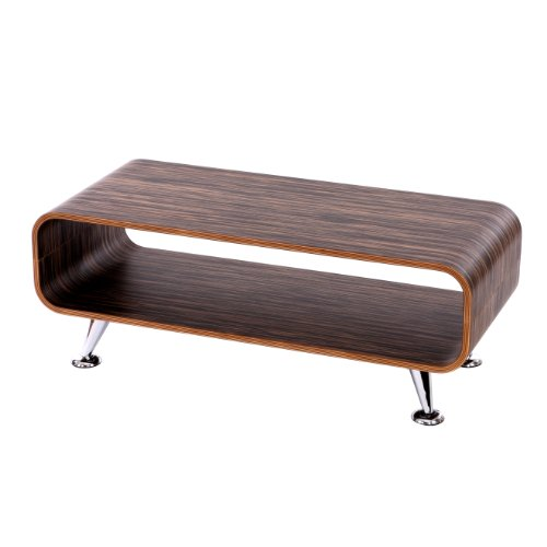 Table Basse de Salon HWC-B97 Zebrano, DL-039, Marron foncé