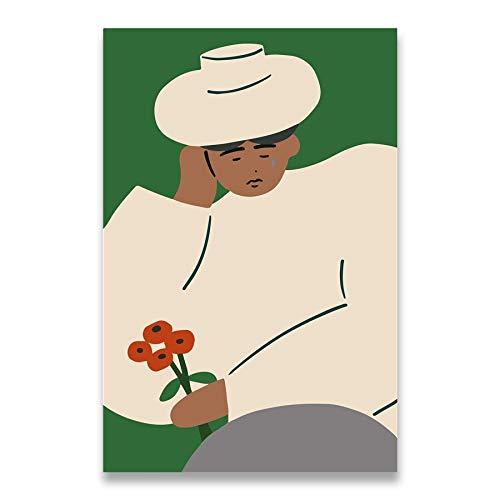 Arte de pared de Matisse pintura de lienzo de dibujo abstracto carteles de lienzo nórdico e impresiones pintura de lienzo sin marco familiar D 60x90cm