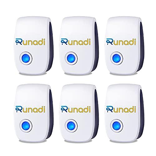 RUNADI Ultrasonic Pest Repellent Indoor - Mice Repellent 6 Packs - Pest Control for Rodents, Mice,...