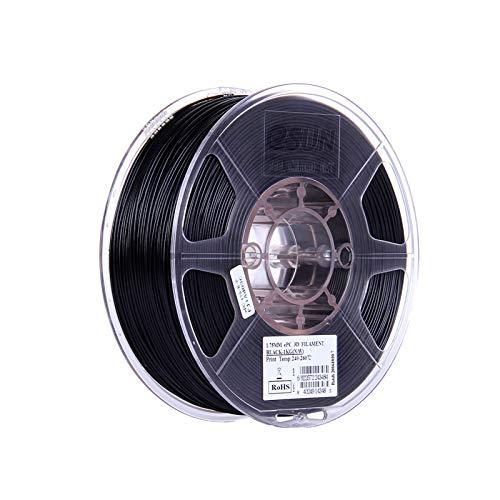 Fesjoy 3D Printer Filament, ePC 1.75mm Filament 1kg(2.2lb) Spool Consumables Black Polycarbonate Material Refills for 3D Printers