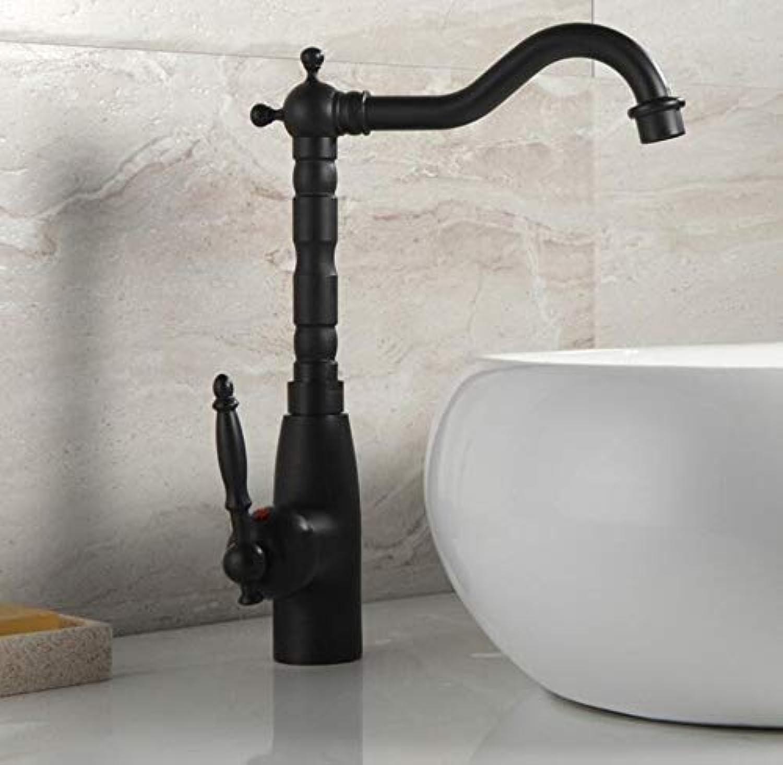 Wasserhahn Waschbecken Klassisches Europisches Schwarzes Becken Und Küchenarmatur Knnen Um 360 Grad Gedreht Werden