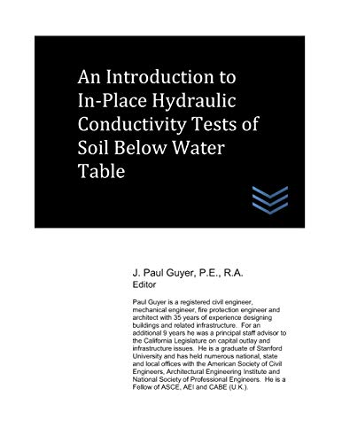 An Introduction to In-Place Hydraulic Conductivity Tests of Soil Below Water Table