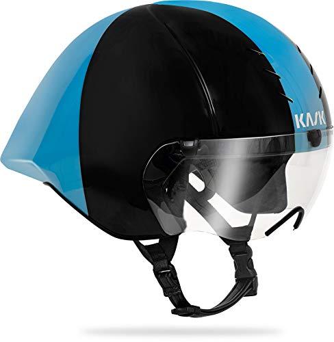 Kask Mistral Helm Zwart/Light Blue 2020 Fietshelm