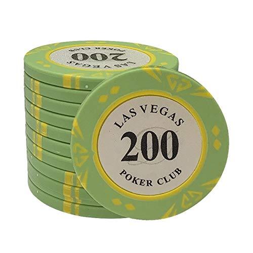 TX GIRL 5 Stück/Los Clay Poker Chips Las Vegas Casino Poker Chips Texas Hold'em Chip Dollar Münzen Poker Club (Color : 200)