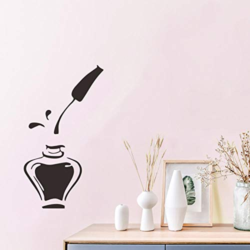 Nagellak Muursticker voor Meisjes Kamer Nagel Art Reclame Home Decoratie Art Decals Glas Venster Stickers