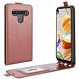 HualuBro LG K61 Hülle, Premium PU Leder Brieftasche Schutzhülle HandyHülle [Magnetic Closure] Handytasche Flip Hülle Cover für LG K61 Tasche (Braun)