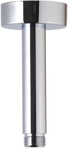 Weirun Bathroom 1 2 Npt All Brass 4 Inch Straight Shower Arm With Flange Ceiling Mount Chrome Amazon Com 4 inch shower arm flange