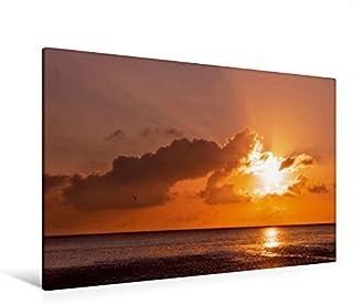 Premium - Lienzo (120 x 80 cm, horizontal), diseño de puesta de sol en el Mar del Norte En Ebbe en socio (CALVENDO Natur);CALVENDO Natural.