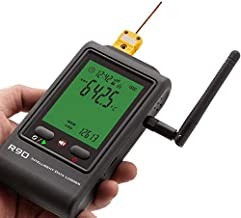 MeterTo WiFi Thermocouple Data Logger R90-EC-W -40~125℃ 1 Channel External Sensor K/T/J/R/S thermocouples for Low/High Tem...