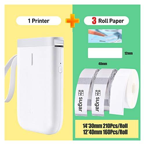 CMDZSW Gebraucht für D11 Wireless Label Drucker Tragbare Taschenetikettendrucker Bluetooth Thermischer Etikettendrucker für den schnellen Druck nach Hause (Color : D11 2 Transparent 1W)