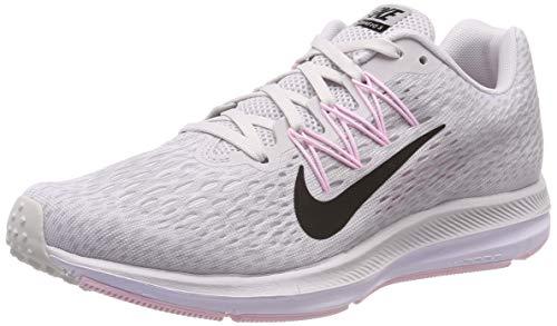 Nike Women's Air Zoom Winflo 5 Running Shoes (8.5, Grey/Pink)