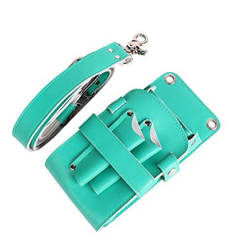 YUXINCAI Leather PU Hairdressing Scissors Hairdressing Tool Bag Belt Leather Case Leather Retro Professional Barber Stylist Pocket Set,Blue
