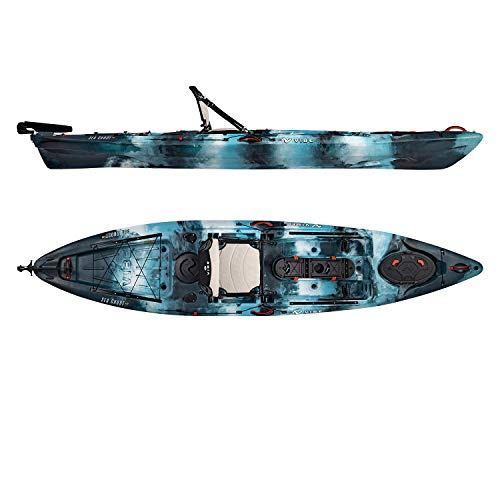 Vibe Kayaks Sea Ghost 130 13 Foot Angler Sit On Top Fishing Kayak...