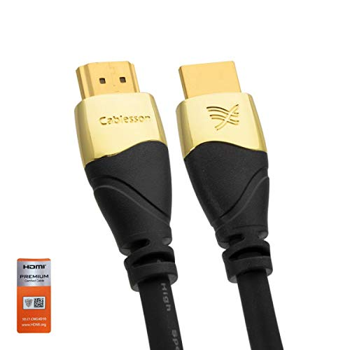 Cablesson Ivuna avanzata HDMI 2.0-4k Support - Indietro Compatibile - alleviare Lo Stress del Cavo Struttura per l'uso più - 3m