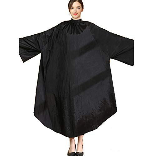 Professional Hairdressing Cape Gown Apron, Waterproof Adults Hair Cutting Cloak Salon Haircut...