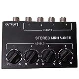 OVBBESS Cx400 Stereo Rca 4 canales mezclador pasivo pequeño...