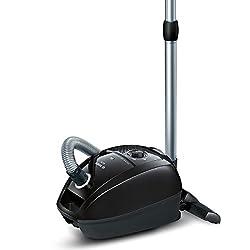 Bosch Staubsauger mit Beutel GL-30 BGL3B112, Bodenstaubsauger, Hygiene-Filter, für Parkett, Teppich, Fliesen, starke Saugleistung, langes Kabel, Polster-Düse, 650 W, schwarz