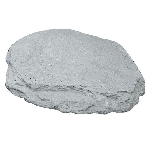 Nano-Garten Piedras de jardín duraderas, Resistentes a la Rotura, Piedras únicas con Aspecto de Pizarra, Antracita y Gris (2 Piedras Aspecto de Pizarra, Gris)