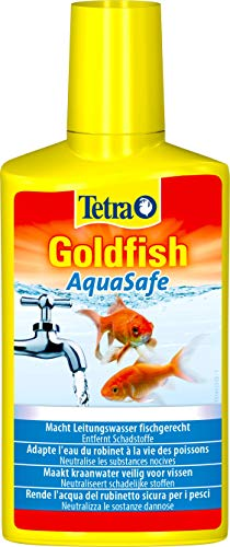 Tetra Goldfish AquaSafe 250 ml, Rende l'Acqua del Rubinetto Sicura per i Pesci