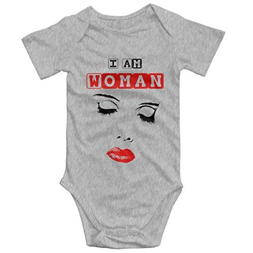 Promini I Am Woman ZI8335 - Mono de manga corta para bebé, de 6 a 9 meses, de algodón