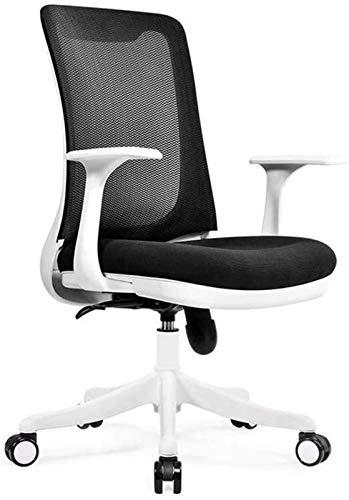 Sessel GSN Haushaltsbreathable Ineinander greifen-Büro-Stuhl Feste Armlehne Multifunktionale 3D Stereo Pad Spiel Stuhl (Color : Black)
