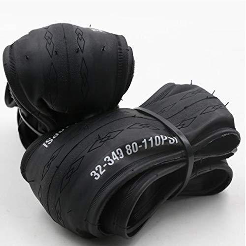 LYTBJ Neumático Plegable de Bicicleta 16 Pulgadas Neumático de 16 * 1,25 para Bicicleta Brompton Neumático Plegable 32-349 120TPI