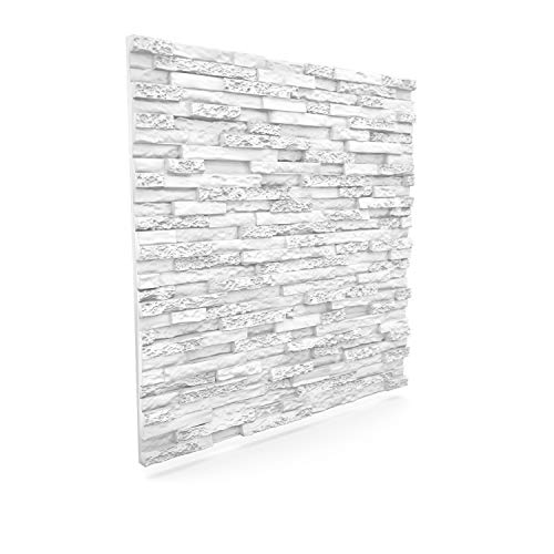 Luxury 3D Wall and Ceiling Panel Stone 60 cm x 60 cm Decorative Tile Cladding (12 Panels (4.32 m²))