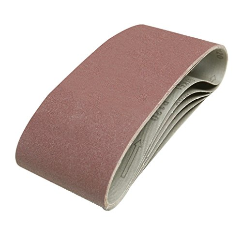 Silverline 846448 5 bandes abrasives 100 x 610 mm Grain 120