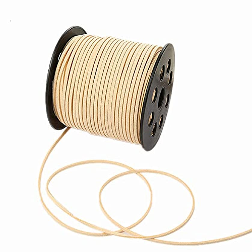100 Yards Faux Suede Lace String Soft Beading Cord Thread Velvet Ribbons for Bracelet Necklace Jewelry Making Embellishment Trimming (Ivory)