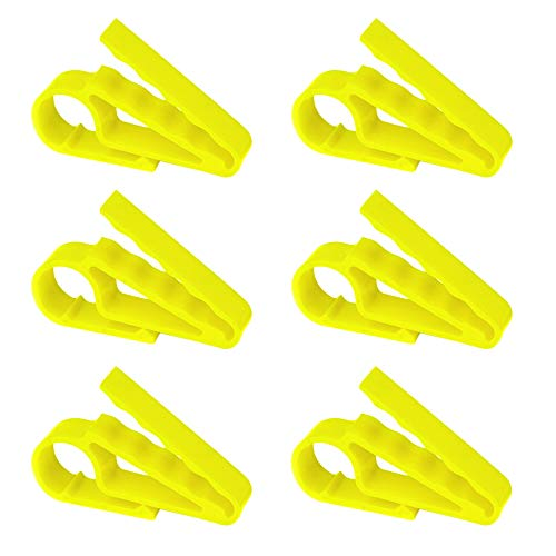 HOW TRUE 6 PCS Golf Cigar Holder Clip for Golfers, Yellow
