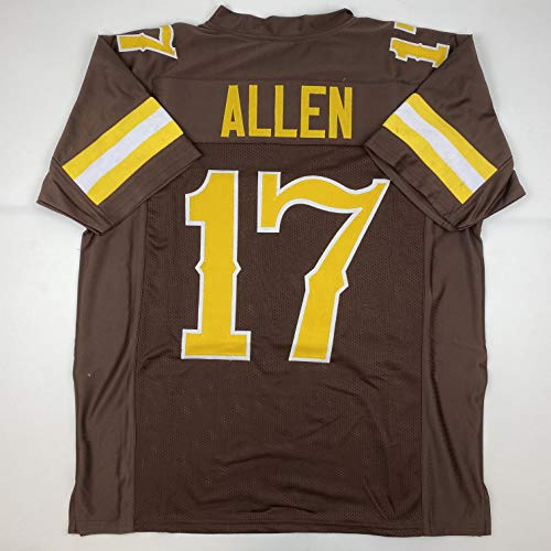 Unsigned Josh Allen Wyoming Brown Custom Stitched College Football Jersey Size Men's XL New No Brands/Logos