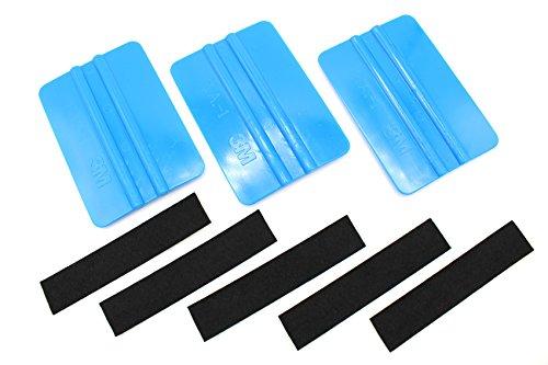Rakel-Set, 3x 3m, mit 5Ersatz-Filzkanten, blau, für Karosseriearbeiten