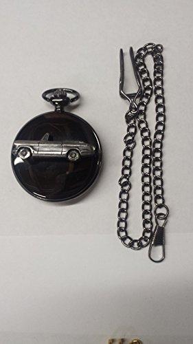 Triumph Vitesse 2Lt Mk2 Convertible ref258 Emblema de efecto peltre pulido negro caja regalo reloj de bolsillo de cuarzo para hombre fabricado en Sheffield