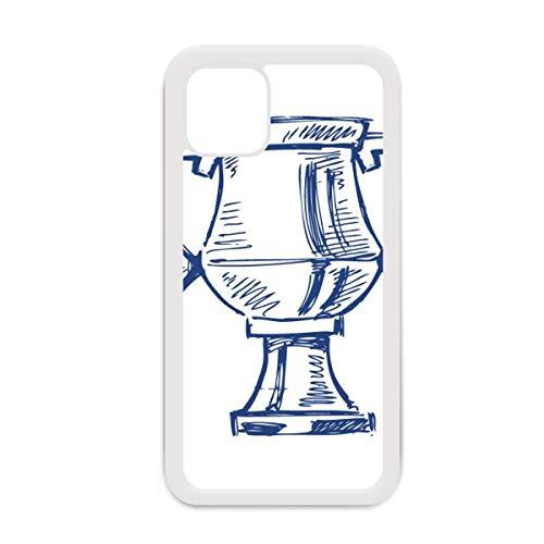 Carcasa para iPhone 12 Pro Max con diseño de trofeo de fútbol de color azul