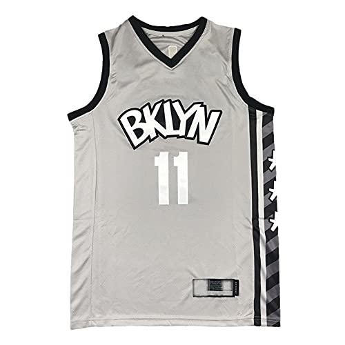 GLACX Ropa de Baloncesto para Hombres, NBA Brooklyn Nets 11# Irving CLÁSICO CLÁSICO, Tela Fresca de la Tela Transpirable Camisetas de Deportes, Fan Unisex Swingman Jerseys,S