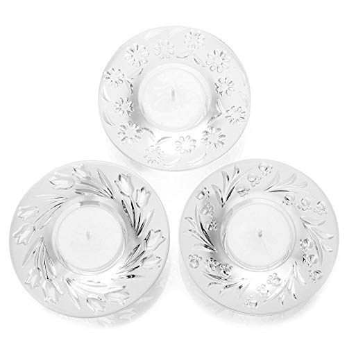 Waterford Crystal Heritage Floral Set of 3 Votives w/ 3 Wax Tealight Candles