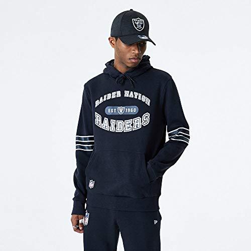 New Era Sudadera con capucha de la NFL las Vegas Raiders Wordmark Graphic con capucha, talla L