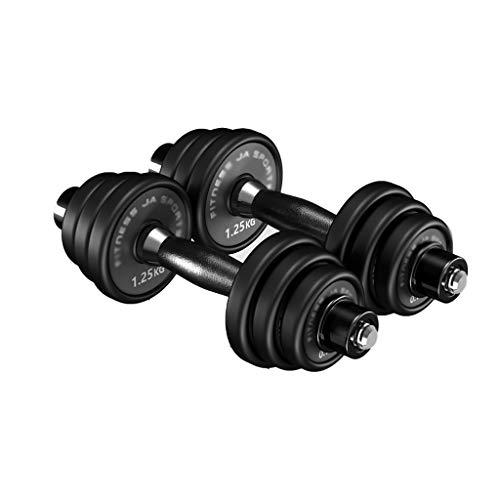 WFS Pesas Gimnasio Mancuernas Aptitud Antideslizante Pesas Pesas Barra Conjunto de Neopreno con Mancuernas de Home Gym Equipment Entrenamiento de Fuerza Musculación