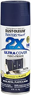 Rust-Oleum 249854 Painter's Touch 2X Ultra Cover, 12-Ounce, Satin Midnight Blue