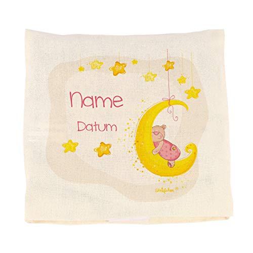 Striefchen® Wärmekissen für Baby zur Geburt mit Namen und Geburtsdatum - Kirschkernkissen Rosa