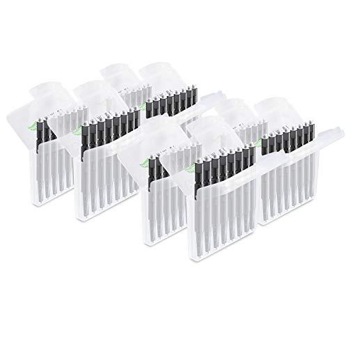 JB White 64x Cerumenfilter für Hörgeräte, Ersatzfilter, Filter kompatibel mit Widex Nanocare Wachsschutz | Oticon ProWax MiniFit | Phonak Cerustop Wax Guards | Resound Hörgerätefilter (Ø 1,3mm)