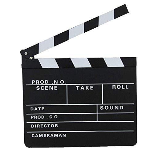 Regissör Blackboard Directors Film Clapboard klippt actionscen klapperbräda skiffer fotografi rekvisita dekoration utomhusdekoration