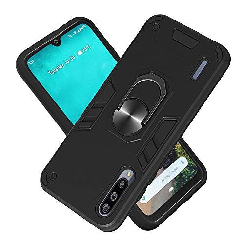Hülle für Xiaomi CC9E mit Standfunktion, PC + TPU Rüstung Defender Ganzkörperschutz Hard Bumper Silikon Handyhülle stossfest Schutzhülle Case (Schwarz)